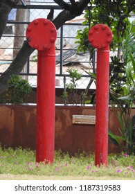 Fire Hydrant, standpipe to supply water to firehose in an emergency, closed with bolts