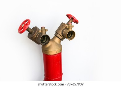 Fire hydrant Y shape on white background