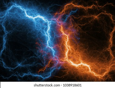 Fire and ice fractal lightning, plasma and energy lightning