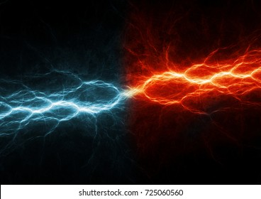 Fire and ice lightning, abstract fractal background