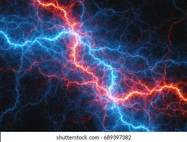 Fire and ice lightning, electrical power background