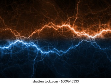 Fire and ice plasma power, electrical lightng bolt