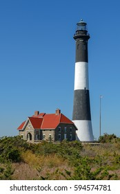 Fire Island Lighthouse located at Fire Island National Seashore, Long Island, New York