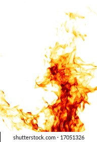 Fire isolated on white