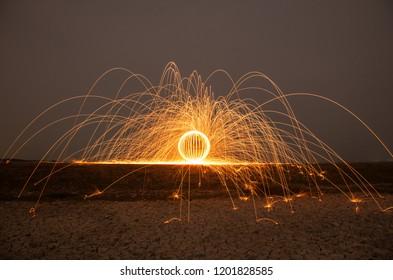 Fire Juggler Performance