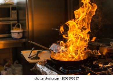 Kitchen Fire Images Stock Photos Vectors Shutterstock