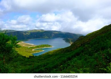 Fire Lagoon, Lagoa do Fogo, São Miguel Island, Azores, Portugal