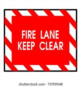 fire lane keep clear