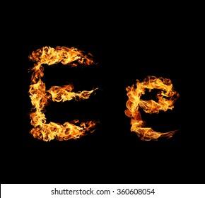 Fire letter E.