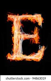 """fire letter """"E"""""""