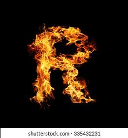 Fire letter R.