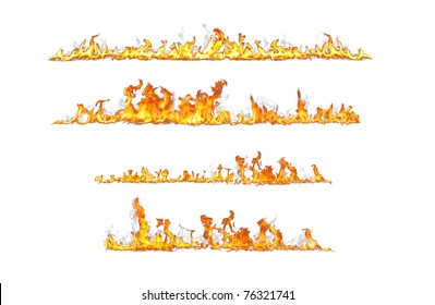 fire lines isolated on white