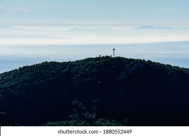 Fire lookout post in the mountain