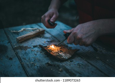 Fire making in the wild (wilderness survival)