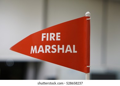 Fire marshal flag as part of fire safety in office