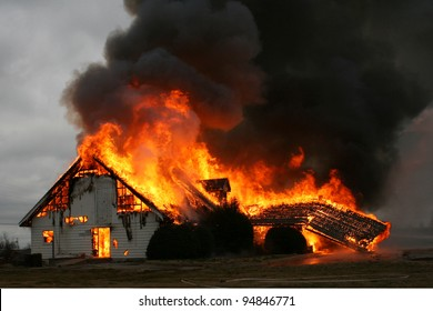 Fire is the most destructive force of nature, as in this image of a burning building, and yet it is also one of the most important forces for the good of mankind when under man's control.