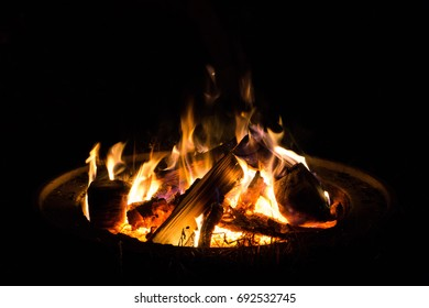 Fire at night - Shutterstock ID 692532745