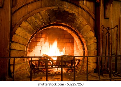 Fire place to keep the room warm.