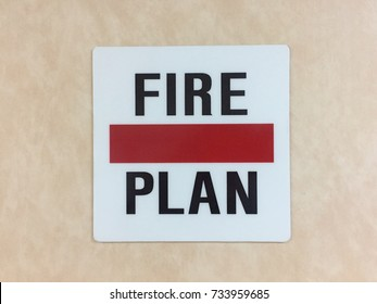 Fire plan post on the wall