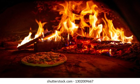 Fire in Pompeii pizza oven
