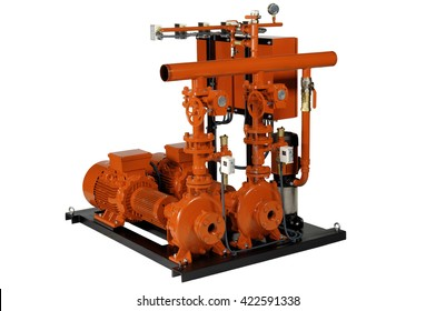 Fire protection with electric motor and gasoline,