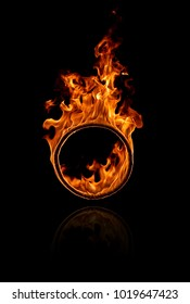 Fire ring in black