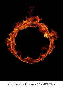 Fire ring in black
