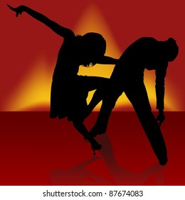 Fire Samba - Dancing silhouettes