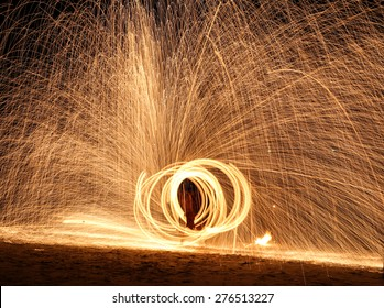 Fire show amazing at night