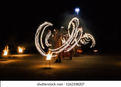 fire show at night