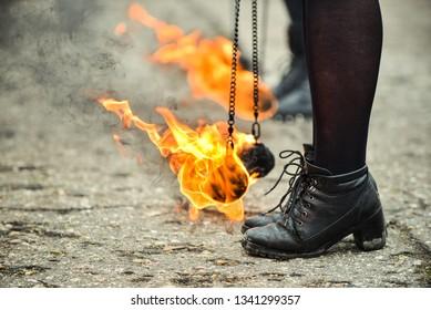 Fire Show Participant Shoes