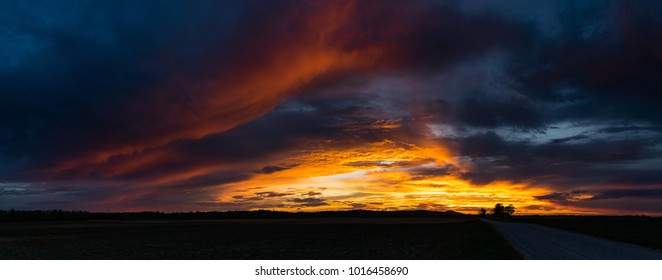 Fire in the Sky Panorama