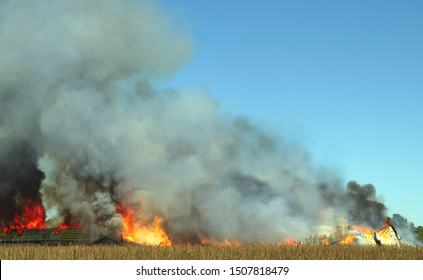 fire smoke flame burn accident barn disaster background