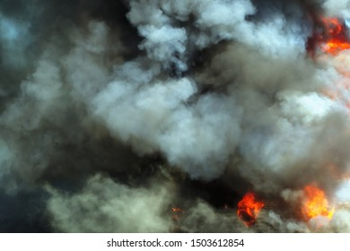 fire and smoke flame burn hell disaster background