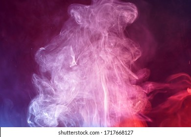 Fire and smoke photographed in the studio