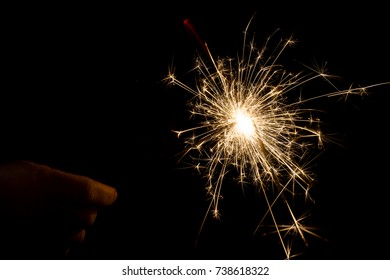 Fire sparklers on background
