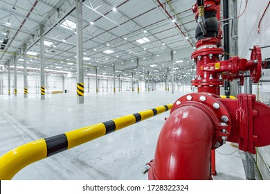 fire suppression system in big logistic center