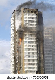 a fire in a tall building