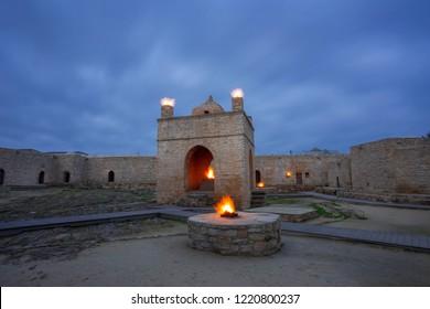 Fire temple Ateshgah in Azerbaijan