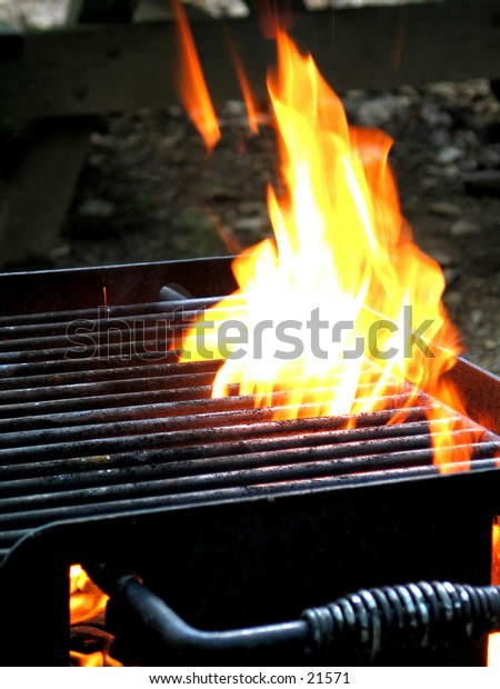 Fire through a grill