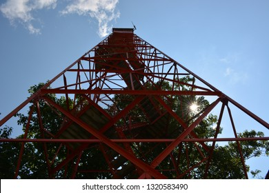 Fire Tower in Red