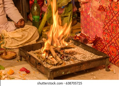 The fire tray-  Indian Wedding Rituals.