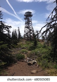 Fire watch tower in central Oregon