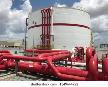 Fire water tank and piping
