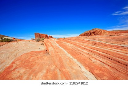Fire Wave and Gibraltar Rock - Valley of Fire State Park, Nevada