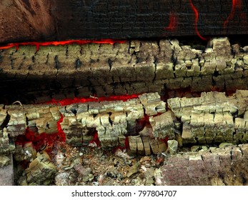 fire and wood charcoal and ambers burnin wallpaper