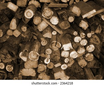 Fire wood pile; natural background