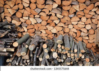 Fire wood at a woodpile
