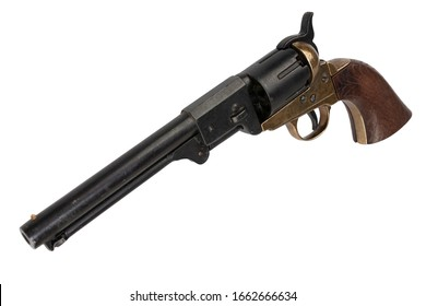 Firearms of the Old West - Percussion Army Revolver isolated on white background