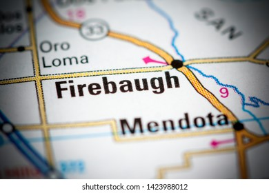 Firebaugh. California. USA on a map